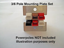 PANEL MOUNTING PLATES 3/6 POLE FOR 15-45 AMP POWERPOLES - AMATEUR RADIO RAYNET