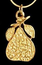 LOOK Gold Plated Allah Pendant Islam BISMILLAH Jewelry Charm