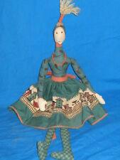 Cloth Folk Art Doll-Bird House Theme-One Of A Kind