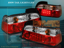 1992-1998 BMW 3 SERIES TAIL LIGHTS LED RED/CLEAR 2 DR 95 97