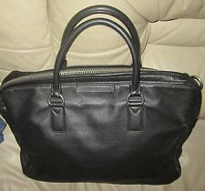 Marc Jacobs TWO HANDLE Top Zip Soft Pebbled Leather Satchel LAPTOP Bag *AS-IS
