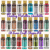 DecoArt Dazzling Metallic Acrylic Craft Paints. 2oz. 27 Colours. 1st Class