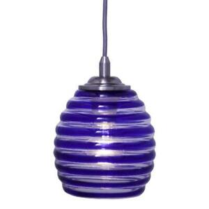Home Decorators Collection 1-Light Blue Swirl Glass Ceiling Pendant Model 494989