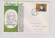 GPO First Day Cover Sir Walter Scott 200th Anniversary with 1971 Barnet Postmark