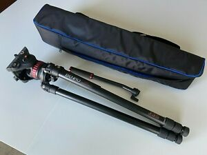 Manfrotto 502 Fluid Head Tripod with Benro A373T Aluminum Video Tripod and Case