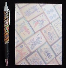 Enrobed Mahjong Tiles, Pen & Note Pad Set, Vintage Mah Jongg