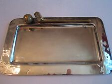 BAKER KNAPP & TUBBS HEAVY SILVER PLATED DESK PLATE - GOLF CLUB & BALL - TUB HD