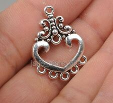 25pcs Tibetan silver charming charm flower earring  Jewelry Findings  Connector