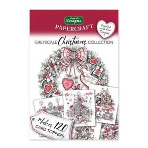 Katy Sue Designs - Papercraft - Christmas Greyscale Topper Pad