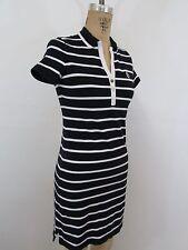 RALPH LAUREN POLO Blue/White Stripe 95% Cotton Shirt Dress-Size PS