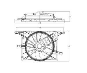 Dual Radiator and Condenser Fan Assembly TYC 621830