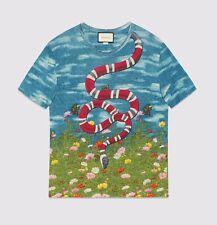 GUCCI T-shirt con cielo e gartenprint Taglia L