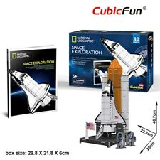NASA Space Exploration Shuttle 65pc 3D Model DIY Puzzle Hobby Build Kit Kids Toy