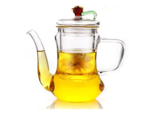 Glass Teapot with glass filter, Transparent 300ml Teapot, Arabic & Persian Style