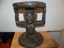 "Arts of Africa - Luba Stool - DRC - Congo 11"" Wide x 15"" Height"