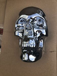 Silver Skull Wall Plaque New Boxed