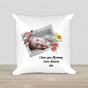 Personalised Photo 40CM Cushion Mothers Day Gift Present Photograph Picture
