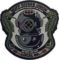 """""""Muff Divers Union"""" - PVC Morale Patch With Hook And Loop Backing"""