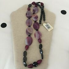 Barse Sterling Silver Necklace - Black and Shades of Purple
