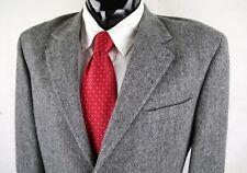 CRICKETEER (42R 43R) Mens Gray Herringbone Wool Camel Nylon Tweed Sport Coat