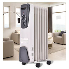 Space Heater Oil Filled Electric 3 Setting Low Cost Radiator Wheeled Home Office