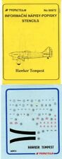Propagteam Decals 1:72 Popisky Stencils Hawker Tempest #00972