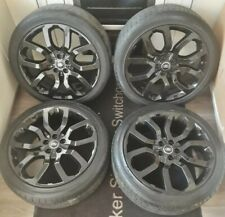 """RANGE ROVER SPORT 22"""" GLOSS BLACK ALLOY WHEELS UPGRADE WITH TYRES"""