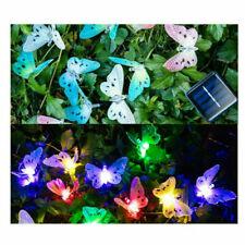 Solar Power Butterfly LED String Lights Room Outdoor Garden Waterproof Decor