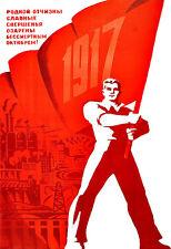 Russian October Revolution 1917 USSR  Propaganda Russia  Poster Print