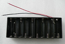 15V Flat 10 AA Battery Holder. 15cm leads, UK Stock, Fast Dispatch