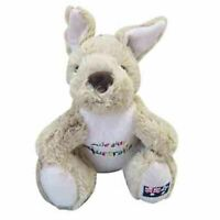 G'DAY KANGAROO W/ADELAIDE EMBROIDERY STUFFED ANIMAL PLUSH TOY 20cm *FREE DELIVER