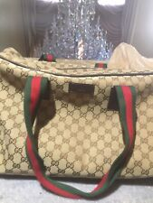 GUCCI 100% AUTHENTIC RARE GG MONOGRAM CARRY ON DUFFLE BAG TRAVEL
