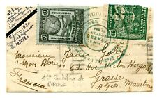 !!! MERMOZ FIRST TRIAL OF CROSSING ATLANTIC, 1930 PARAGUAY COVER TO FRANCE