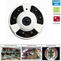 HD CCTV Security Camera 2.0MP 1080P 360° Wide Angle Fisheye lens IR 6PCS LEDs