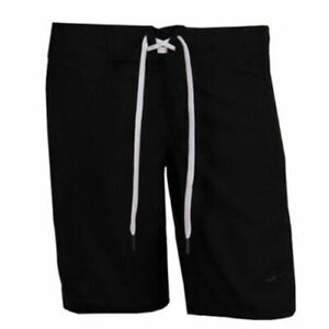 Nike 6.0 Skateboarding Womens Black White Sport Training Shorts 445100 011 A7C