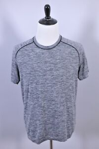 Lululemon Metal Vent SS Shirt Black Gray Heather Men's Large L