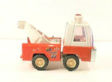 Vintage 1960s 1970's Pressed Steel Red And White Buddy L Tow Truck