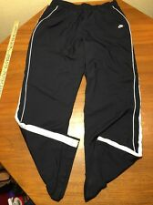 Nike Wind Pants Track Running Youth L Blue Swoosh Un Zippered Lined Polyester
