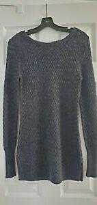 Athleta Womens Cypress Wool Blend Sweater Charcoal Gray #152688 Size XXS