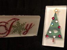 Glass Christmas Pins