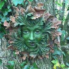 LARGE Green Spirit Greenman Garden Wall Plaque Outdoor Celtic Pagan Decor 09048