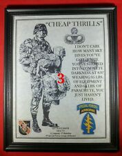"""Mc-Nice: Army Airborne """"Cheap Thrills"""" Special Forces Framed Personalized"""
