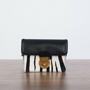 VERSACE 1295$ Zebra Motif V-Adiona Belt Bag