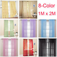 1M*2M Home Decor Tulle Voile Window Drape Panel Sheer Scarf Valances Curtain