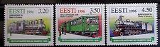 Estonia 1996 centenario de estrecha Gauage Ferrocarril SET. estampillada sin montar o nunca montada.