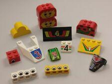 Bulk Lot Lego Pack: Mixed Decorated Slopes & Bricks, Qty x 19