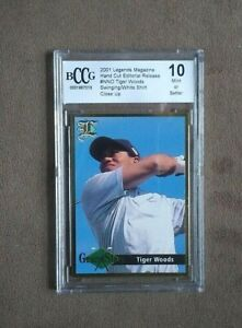 2001 Legends Magazine Edtiorial Release Tiger Woods Grand Slam BCCG 10 Mint