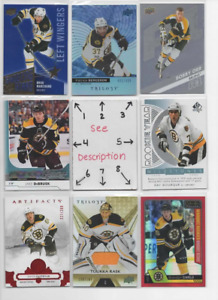 Boston Bruins * * SERIAL #'d Rookies Autos Jerseys * * ALL CARDS ARE GOOD CARDS