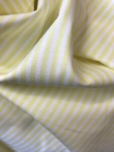 Yellow & white stripe cotton dress/craft fabric (IDEAL FOR FACE MASKS)
