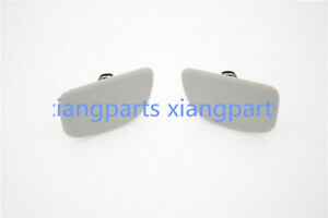 Pair Front Headlight Washer Cover Cap Hole For SUBARU Forester 2004-2007